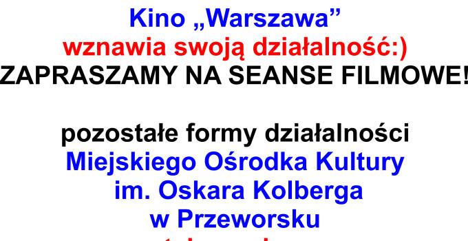 Działalność MOK – kino WARSZAWA