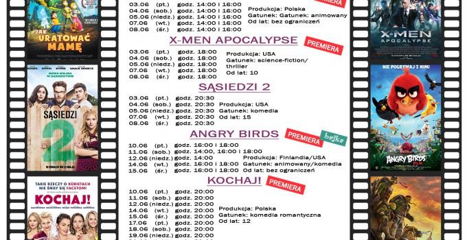 Terminarz kina WARSZAWA – czerwiec 2016
