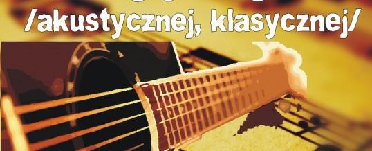 Zajęcia z nauki gry na gitarze – online