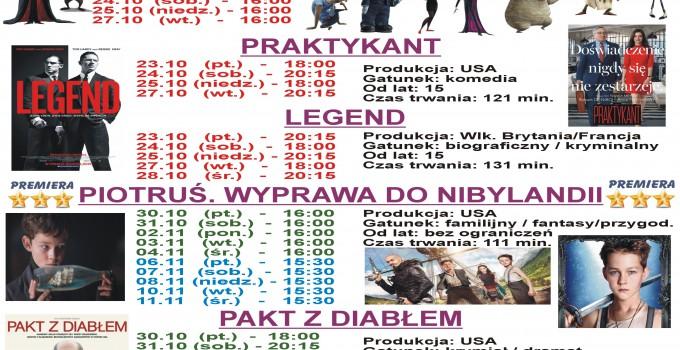 Terminarz kina Warszawa 16.10 -18.11. 2015