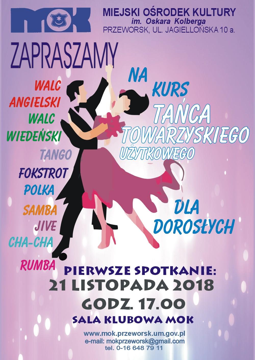 kurs tańca 2018